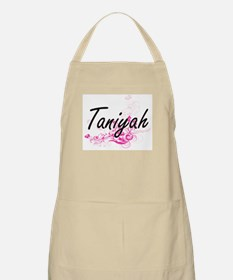 Taniyah Artistic Name Design with Flowers Apron