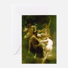 Nymphs and Satyr by Bouguereau Greeting Card