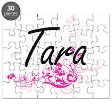 Tara Artistic Name Design with Flowers Puzzle