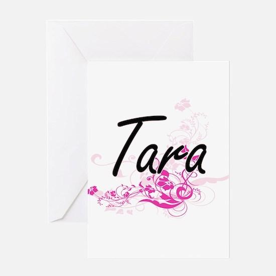 Tara Artistic Name Design with Flow Greeting Cards
