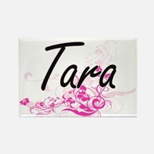 Tara Artistic Name Design with Flowers Magnets