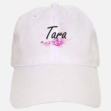 Tara Artistic Name Design with Flowers Cap