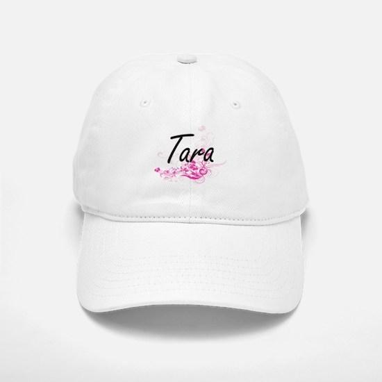 Tara Artistic Name Design with Flowers Cap