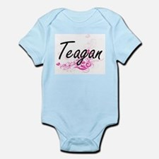 Teagan Artistic Name Design with Flowers Body Suit