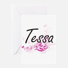 Tessa Artistic Name Design with Flo Greeting Cards