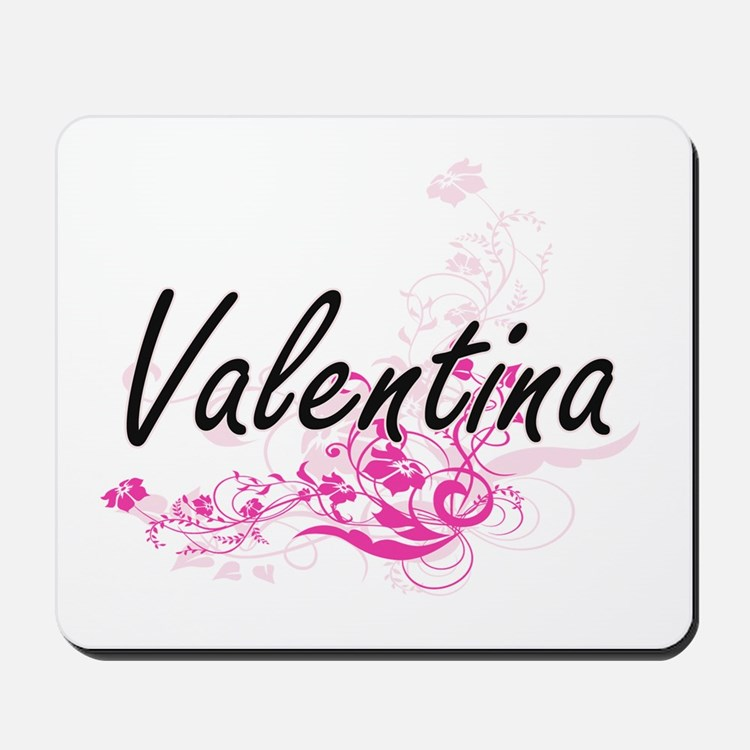 Valentina Artistic Name Design with Flow Mousepad