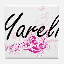 Yareli Artistic Name Design with Flow Tile Coaster