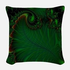Fern Vert Woven Throw Pillow