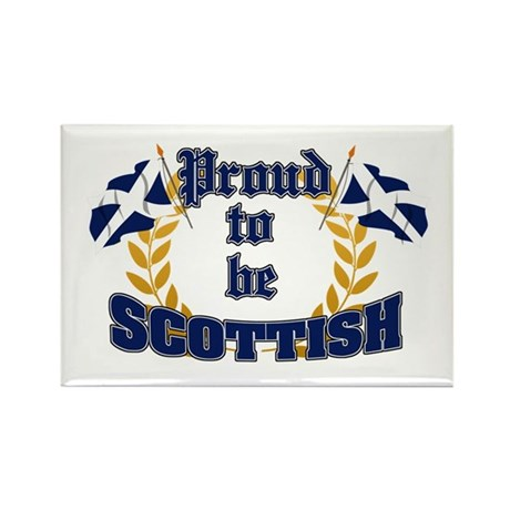 Proud to be Scottish Rectangle Magnet (100 pack)