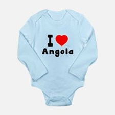 I Love Angola Long Sleeve Infant Bodysuit
