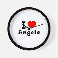 I Love Angola Wall Clock