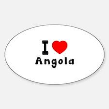 I Love Angola Decal
