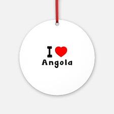 I Love Angola Round Ornament