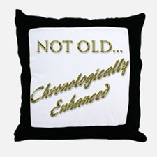Cronologically Enhanced Throw Pillow