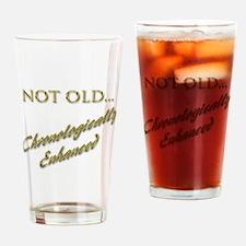 Cronologically Enhanced Drinking Glass