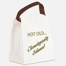 Cronologically Enhanced Canvas Lunch Bag