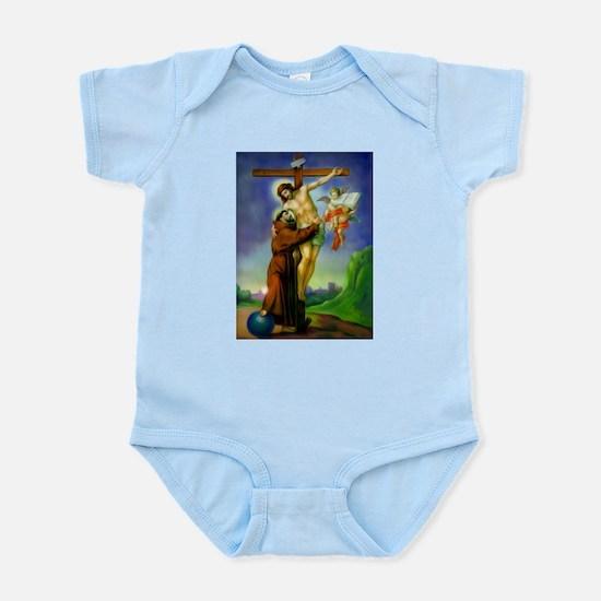 Saint Francis of Assisi Embraces Jesus o Body Suit