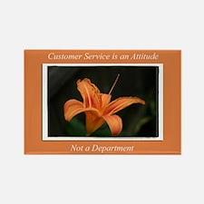 Customer Service Orange Lily Rectangle Magnet