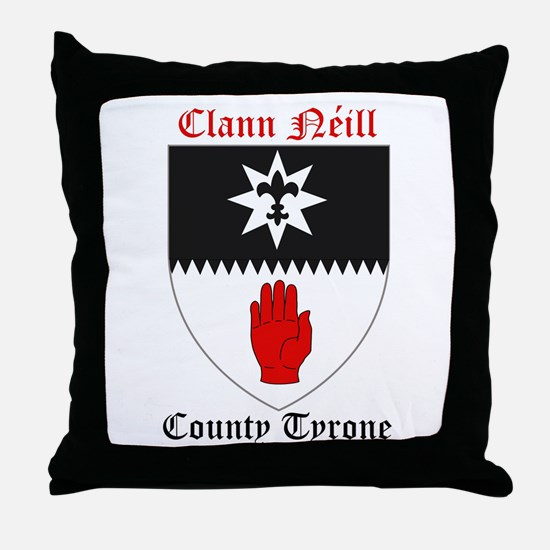 Clann Neill - County Tyrone Throw Pillow
