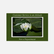 Customer Service Lily Rectangle Magnet