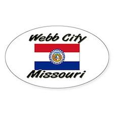 Webb City Missouri Oval Decal
