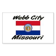 Webb City Missouri Rectangle Decal