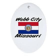 Webb City Missouri Oval Ornament