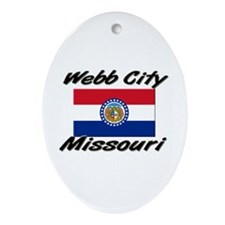 Webb City Missouri Oval Ornament