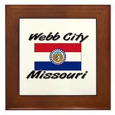 Webb City Missouri Framed Tile