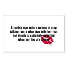 Foolish Men Quote Rectangle Decal
