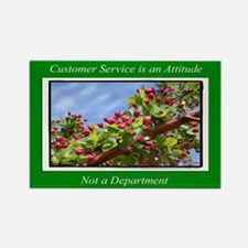 Customer Service Flowers Rectangle Magnet