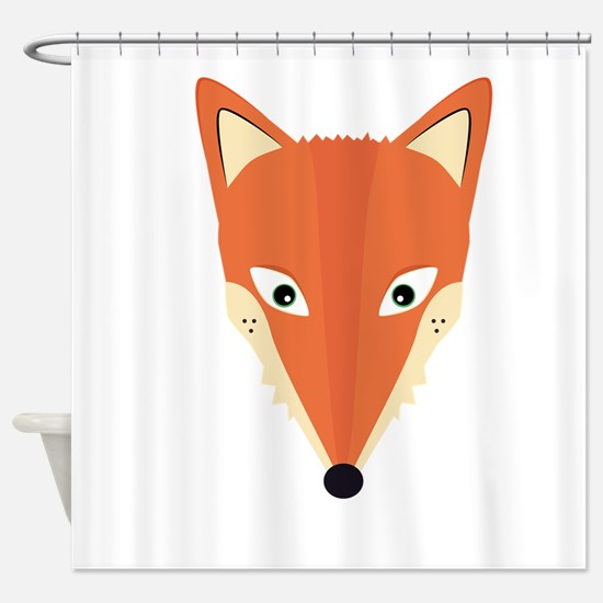 Cute Fox Shower Curtain