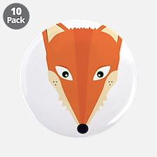 """Cute Fox 3.5"""" Button (10 pack)"""