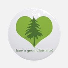 Green Christmas Ornament (Round)