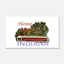 Home Again Indiana Rectangle Car Magnet