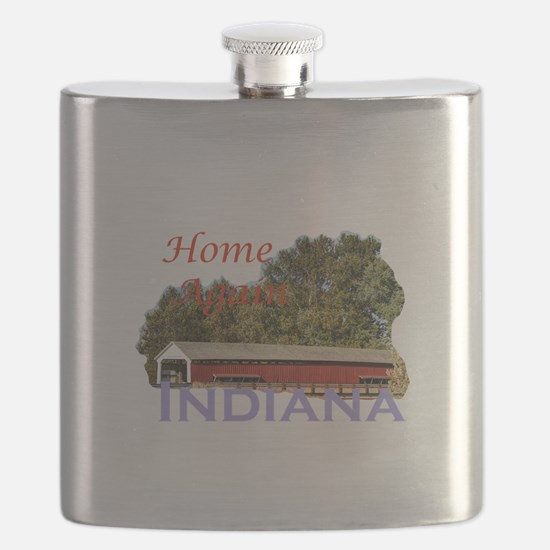 Home Again Indiana Flask