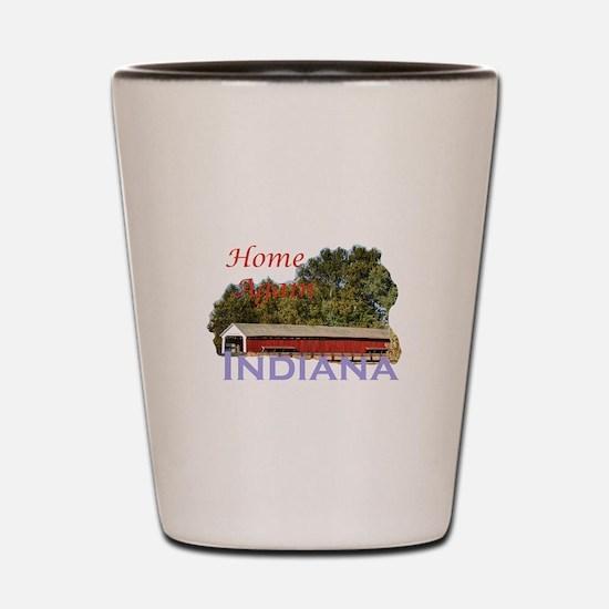 Home Again Indiana Shot Glass