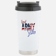 Proud Patriotic Army Sister Travel Mug