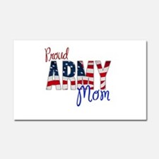 Proud Patriotic Army Mom Car Magnet 20 x 12