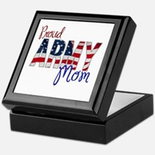 Proud Patriotic Army Mom Keepsake Box