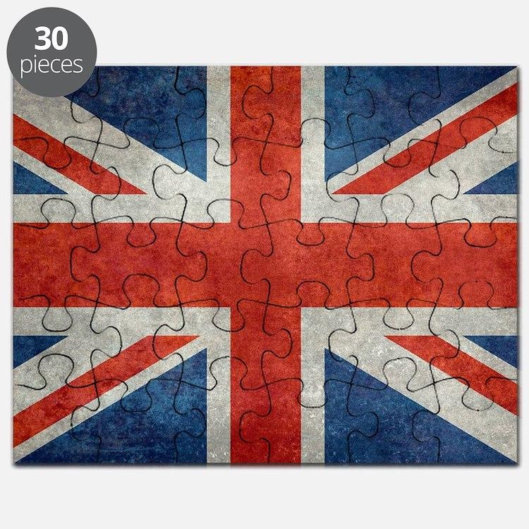 UK British Union Jack flag retro style 3:5 Puzzle