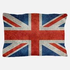 UK British Union Jack flag retro style Pillow Case