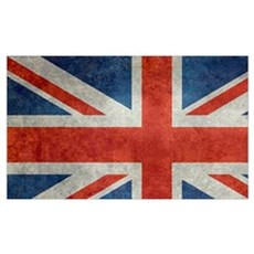 UK British Union Jack flag retro style 3:5 Poster