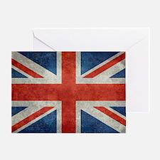 UK British Union Jack flag retro sty Greeting Card