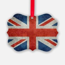 UK British Union Jack flag retro  Ornament