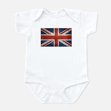 UK British Union Jack flag retro style 3 Body Suit