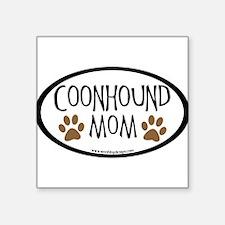 "Cute Black and tan coonhound Square Sticker 3"" x 3"""