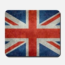 UK British Union Jack flag retro style 3 Mousepad