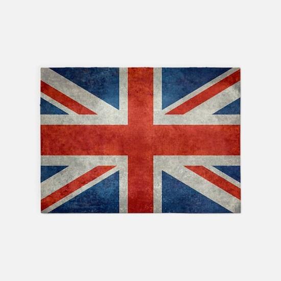 Uk British Union Jack Flag Retro St 5 X7 Area Rug