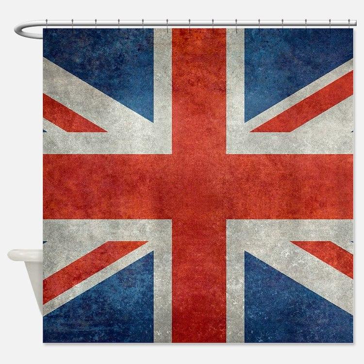 British flag bathroom accessories decor cafepress for Decoration murale union jack